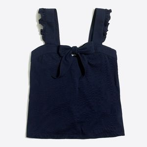 J Crew Navy Blue Bow Tank Top NEW NWT Small